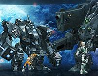 Novus. Website design for Rising Force Online server