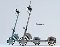 Scooter retro style design