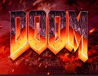 Making of DOOM Logo