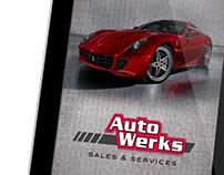 Auto Werks branding and identity