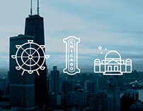 Chicago outline icons