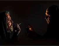 Noční rozhovor /Night Talk /selfportrait