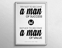 Man of Value Poster Print