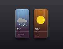 Weather app UI ideation