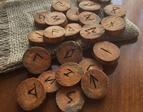 Woodburned Elder Futhark Rune Set