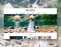 Web Site. Esty Style - Wedding brand.