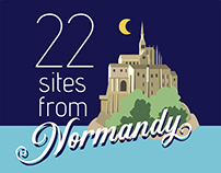 A visit to 22 sites in Normandy
