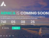 Arnica - Creative Coming Soon Template