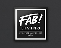 Fab Living by Una concept store identity