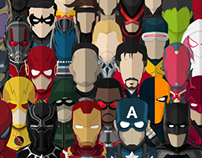 Flat Design Hero Avatars