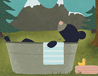 Black Bear Bathing: Critter of the Week