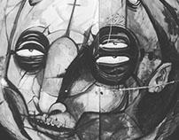 pintura y bocetos ojos de bruja Zacatecas México