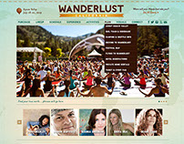 Website Design: Wanderlust Festivals