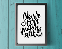 Print Art with Calligraphy and Lettering