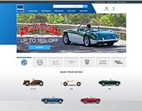 Moss Motors Website Design