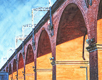 STOCKPORT Watercolours - Landscape