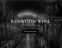 Red Wood Wine Landing Page