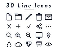 30 Line Icons