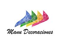 Logo y papeleria Manu Decoraciones Cliente: Jose Araujo
