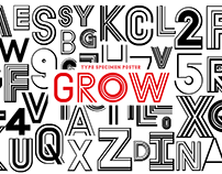 Type Specimen Poster - GROW