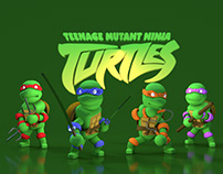 Characters in Cinema 4D- Teenage Mutant Ninja Turtles