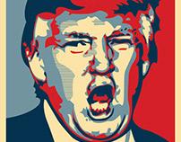 Trump Hate Illustration