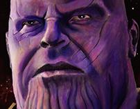 Thanos Acrylic Painting