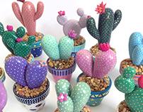 Miniature Cactus Sculptures