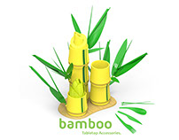 Bamboo Inspired Tabletop Accessory