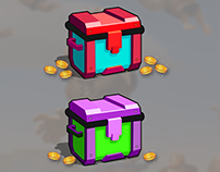 Chest Box Game Prop Asset (Free Illustration File)