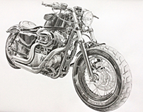 Harley Davidson - Drawing