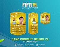 FIFA 16 Card Concept Design