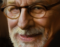Steven Spielberg Portrait plus process