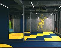 Fitness center in Khalg city.(Khirdalan) Wrestling hall