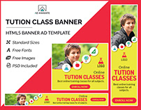Tuition Class Banner- HTML5 Banner Ad Templates