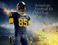 American Football Kit Mockup