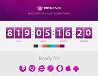 RoyalTimer Multicolor Countdown Timer