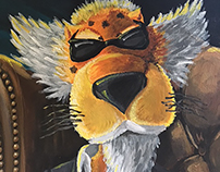 Cheetos Chester Cheetah Traditional Acrylic Painting