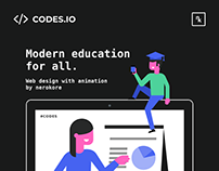 Web-Design with Animation for Online Education Website