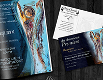 Program and post card design for the Opus Chorale of WV