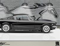 Artwork illustration - Mustang