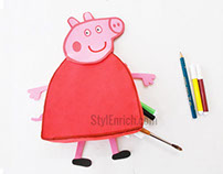 DIY Kid's Craft Idea : Peppa Pig Pencil Pouch