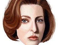 Dana Scully (The X Files) Portrait