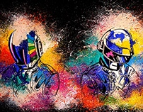 Daft Punk Painting
