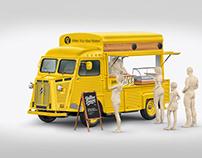 Citroen Hy Van Food Truck Mockup