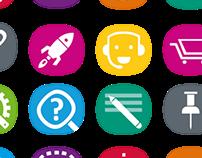 Delta Lloyd icons app / intranet