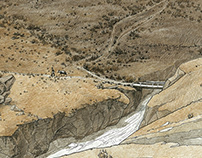 Foothills of the Pamir (unfinished cycle of drawings)