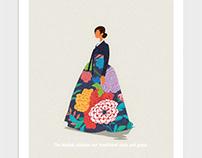 Hanbok is the national costume of Korea.