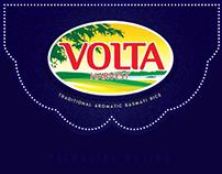 volta rice packaging design branding
