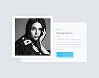 UI Challenge 04 - Profile page